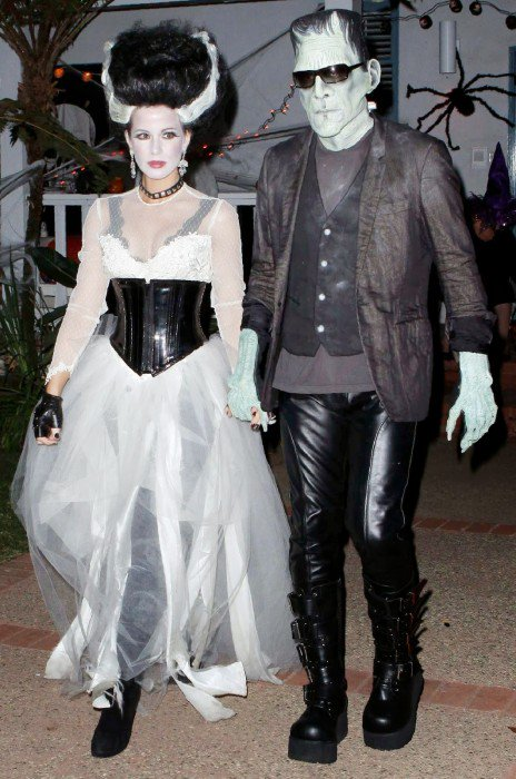 morticia y herman monster